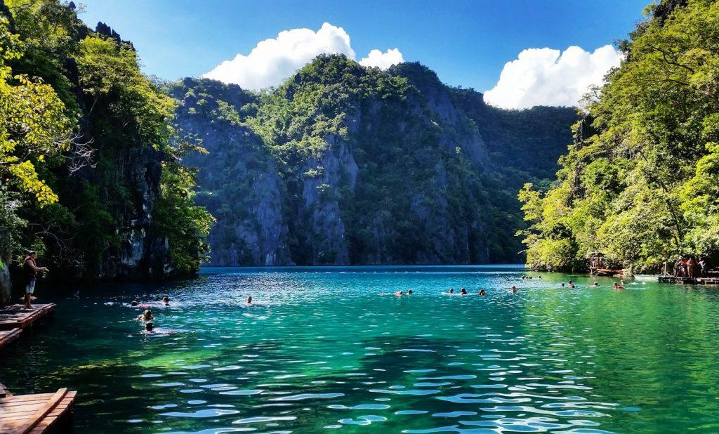 Kayangan Lake in Coron beim Island hopping