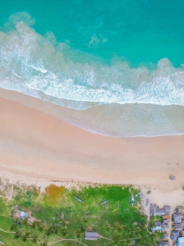 Luftaufnahme Nacpan beach El nido