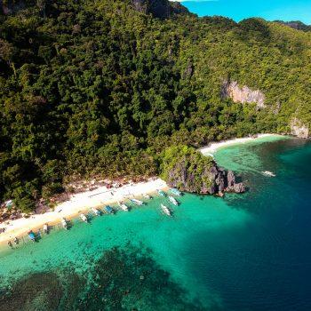 Luftaufnahme Palawan Meer und Strand