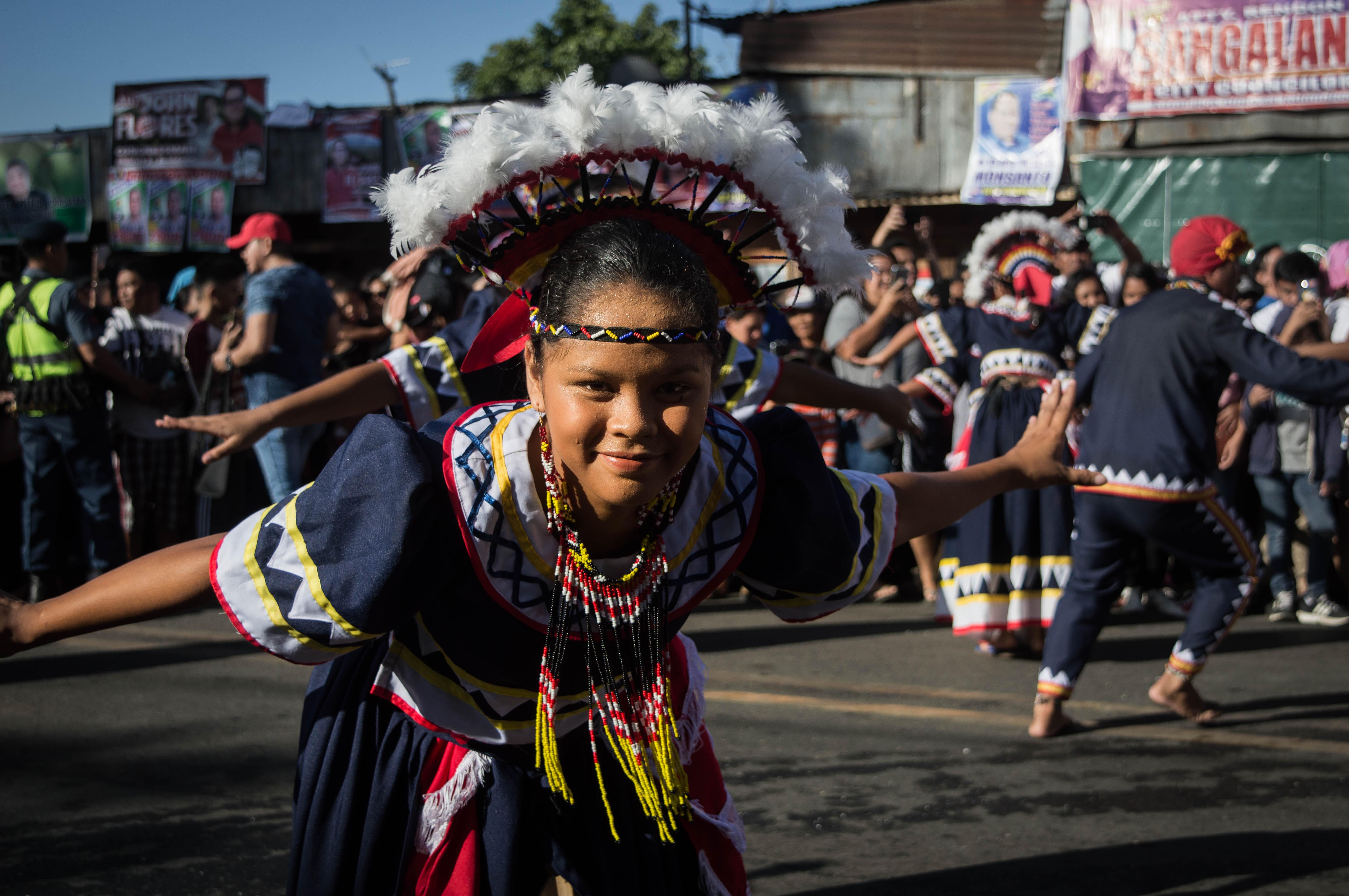 kultur straßenfestival auf den philippinen